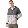 Prana Men's Theon Full Zip Hoody - Large - Mid Grey