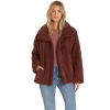 Billabong Women's Cozy Days Jacket - Large - Coco Berry