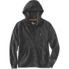 Carhartt Men's Force Delmont Graphic Full Zip Hooded Sweatshirt - Large Tall - Black Heather