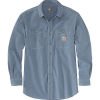 Carhartt Men's Flame-Resistant Force Original-Fit Lightweight LS Butto - XL Tall - Steel Blue