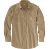 Carhartt Men's Flame-Resistant Force Original-Fit Lightweight LS Butto - XL Tall - Dark Khaki
