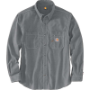 Carhartt Men's Flame-Resistant Force Original-Fit Lightweight LS Butto - Large Tall - Grey