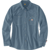 Carhartt Men's Flame-Resistant Force Relaxed Fit Lightweight LS Button - Large - Steel Blue