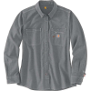 Carhartt Men's Flame-Resistant Force Relaxed Fit Lightweight LS Button - Small - Grey