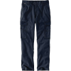 Carhartt Men's Flame-Resistant Rugged Flex Relaxed Fit Canvas Cargo Pa - 42x34 - Navy
