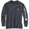 Carhartt Men's Flame-Resistant Force Original-Fit Midweight LS Signatu - 4XL Regular - Granite Heather