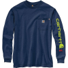 Carhartt Men's Flame-Resistant Force Original-Fit Midweight LS Signatu - 4XL Regular - Dark Blue Heather