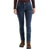 Carhartt Women's Straight Fit Double Front Straight Leg Jean - 4 Short - Rainwash