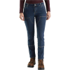 Carhartt Women's Straight Fit Double Front Straight Leg Jean - 12 Short - Rainwash