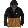 Carhartt Men's Storm Defender Midweight Hooded Jacket - Large Tall - Black / Carhartt Brown