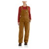 Carhartt Women's Weathered Duck Wildwood Overalls Bib - XL Tall - Carhartt Brown