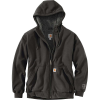 Carhartt Men's Rain Defender Rockland Sherpa-Lined Full-Zip Hooded Swe - 3XL Tall - Peat