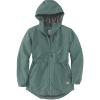 Carhartt Women's Rain Defender Nylon Coat - Small - Musk Green