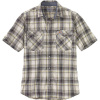 Carhartt Men's Rugged Flex Relaxed-Fit Lightweight SS Snap-Front Plaid - Large Tall - Olive