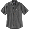 Carhartt Men's Rugged Flex Rigby SS Work Shirt - 4XL Regular - Gravel