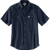 Carhartt Men's Rugged Flex Rigby SS Work Shirt - 4XL Regular - Navy