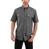 Carhartt Men's Original-Fit Midweight LS Button-Front Shirt - 4XL Regular - Black Chambray