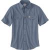 Carhartt Men's Original-Fit Midweight LS Button-Front Shirt - Large Tall - Denim Blue Chambray