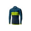 Castelli Men's Prologo VI LS Full Zip Jersey - Large - Light Steel Blue / Chartreuse / Dark Steel Blue