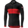 Castelli Men's Prologo VI LS Full Zip Jersey - Medium - Black/Red/Black