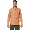 Mountain Hardwear Men's Canyon Pro LS Shirt - Small - Rust Earth