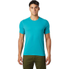Mountain Hardwear Men's Crater Lake SS Tee - Small - Vivid Teal