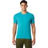 Mountain Hardwear Men's Crater Lake SS Tee - XXL - Vivid Teal