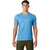 Mountain Hardwear Men's Crater Lake SS Tee - Small - Deep Lake Cam Print