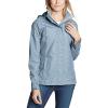 Eddie Bauer Women's Rainfoil Packable Jacket - Large - Chambray Blue