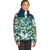 The North Face Girls' Resolve Reflective Jacket - XXS - Jaiden Green Valley Block Print