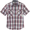 Carhartt Men's Rugged Flex Relaxed-Fit Lightweight SS Button-Front Pla - XL Tall - Dark Barn Red
