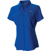 Columbia Women's Lo Drag SS Shirt - Small - Stormy Blue