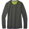 Smartwool Men's Intraknit Merino 200 Crew - Medium - Charcoal/Smartwool Green