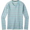 Smartwool Women's Merino 150 Baselayer LS Top - XL - Wave Blue Stripe