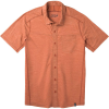 Smartwool Men's Merino Sport 150 SS Button Down Top - Small - Bombay Brown Heather