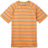 Smartwool Men's Merino 150 Baselayer SS Top - XXL - Atomic Orange Stripe