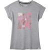 Smartwool Women's Merino Sport 150 Cactus Crop Tee - XL - Light Grey Heather