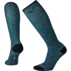 Smartwool Women's Compression Hexa-Jet Printed Over The Calf Sock - Large - Deep Navy