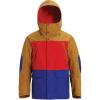 Burton Men's GTX Breach Jacket - Medium - Wood Thrush / Flame Scarlet / Royal Blue