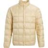 Burton Men's Evergreen Down Snap Insulator Jacket - Small - Almond Milk