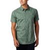 Columbia Men's Summer Chill SS Shirt - XL - Thyme Green Trees