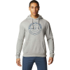 Mountain Hardwear Men's Geo Marker Pullover Hoody - Small - Heather Manta Grey