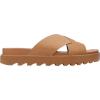Sorel Women's Roaming Criss Cross Slide - 5 - Camel Brown