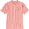 Carhartt Men's Workwear Pocket SS T Shirt - Large Regular - Harvest Orange Snow Heather