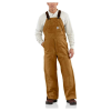 Carhartt Men's Flame Resistant Duck Bib Lined Overall - 34x32 - Carhartt Brown