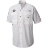 Columbia Men's Collegiate Tamiami SS Shirt - Large - UGA - White