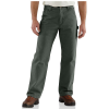 Carhartt Men's Washed Duck Work Dungaree Flannel Lined Pant - 31x34 - Moss