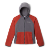 Columbia Youth Fast Trek II Fleece Hoodie - XL - City Grey / Carnelian Red