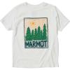 Marmot Boys' Purview SS Tee - Small - White