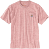 Carhartt Men's Workwear Pocket SS T Shirt - XXL Regular - Dark Barn Red Snow Heather